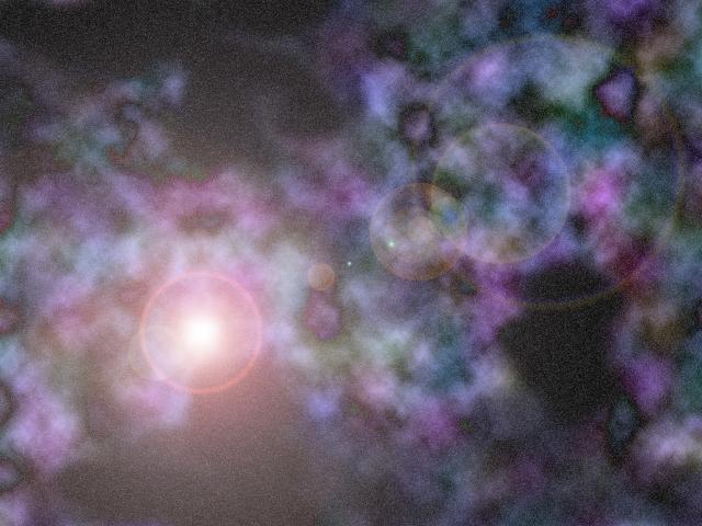 宇宙のどこかで今星が生まれる。